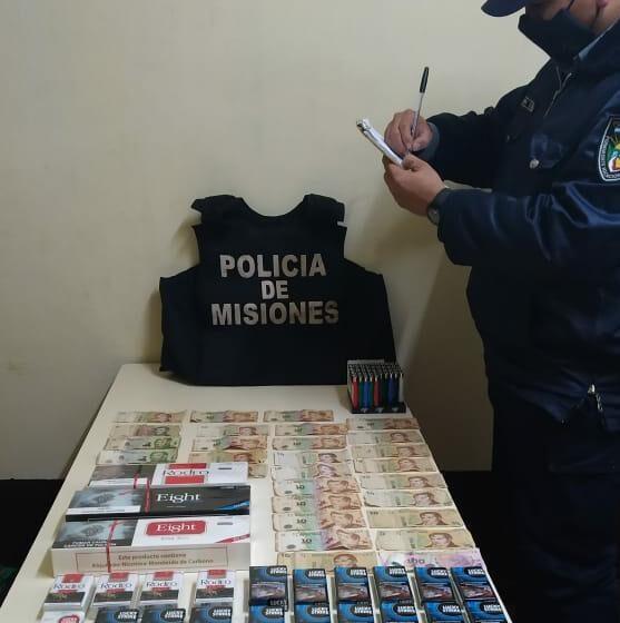 La policía recuperó elementos robados y detuvo a una persona