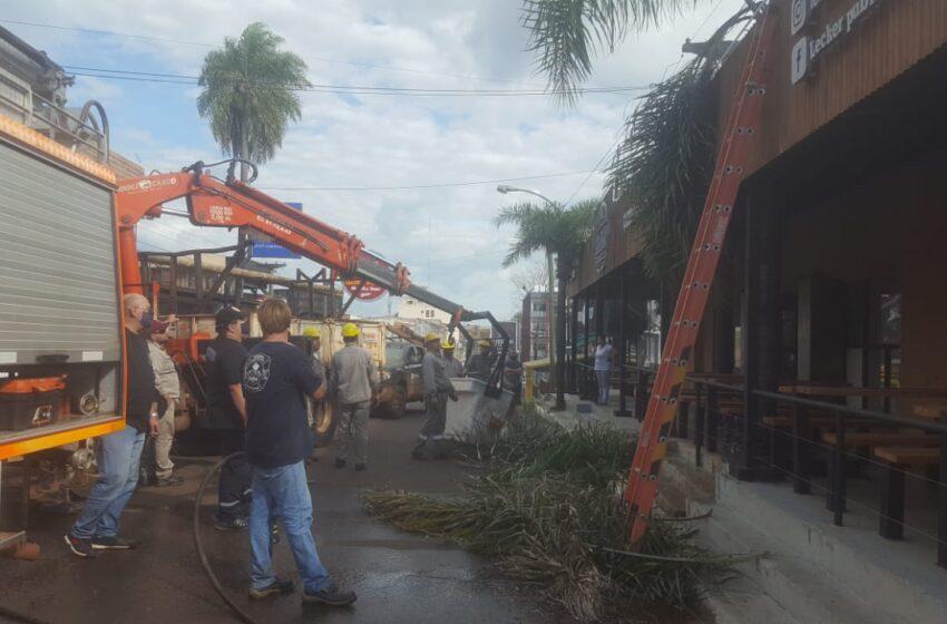 Iguazu: Un principio de incendio en un resto bar