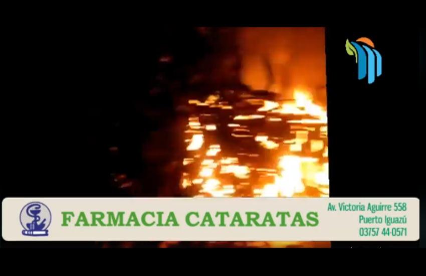 Iguazú: Se incendió una vivienda en el barrio 25 de Mayo