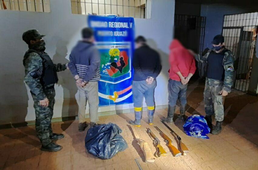 Tres Detenidos por caza furtiva