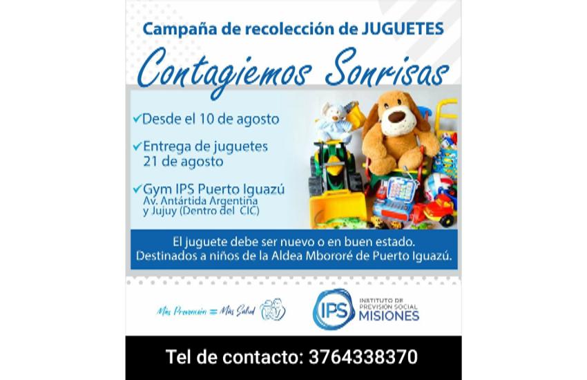 Campaña de recolección de juguetes: Contagiemos Sonrisas