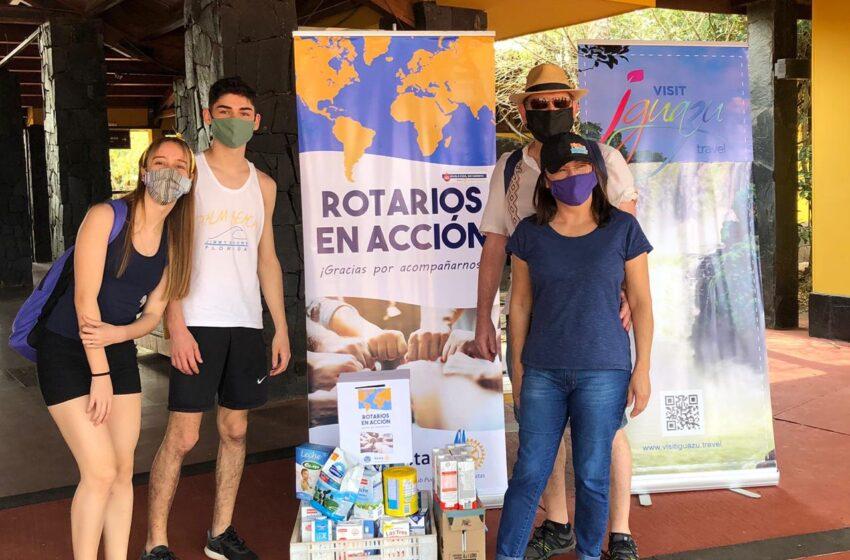 El Rotary realiza la entrega de elementos donados en cataratas