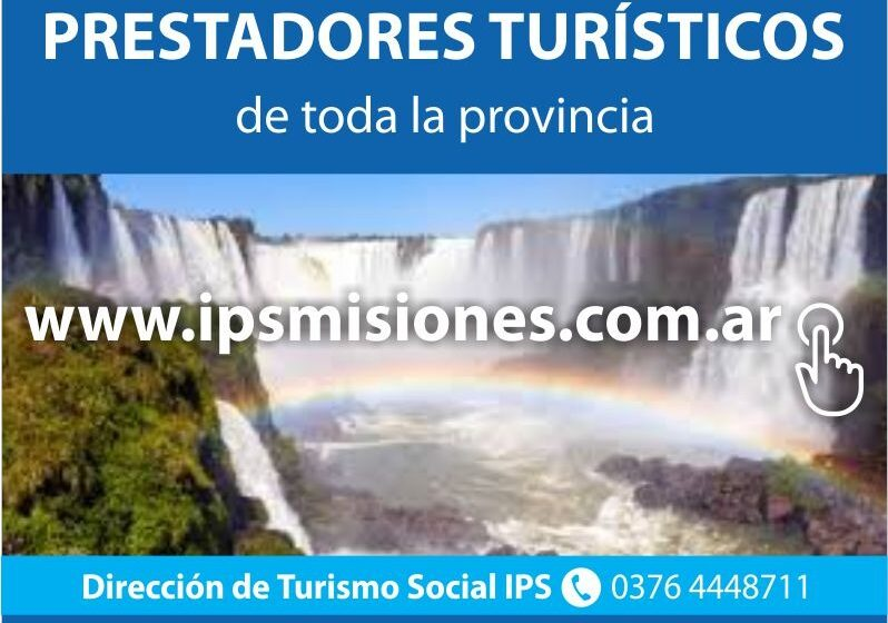 Descuentos a afiliados del IPS para turismo en Misiones