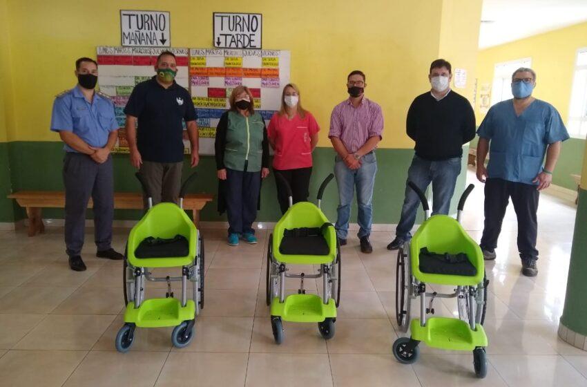 Internos de la UP III armaron sillas de ruedas para niños