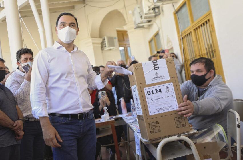 Valdez fue reelecto en Corrientes, con una amplia ventaja sobre el frente de Todos