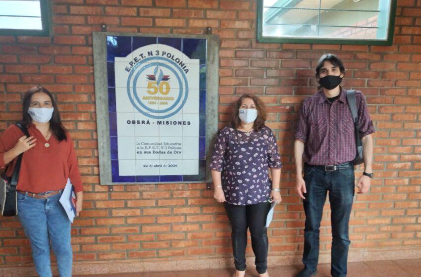 Visita de UDA a distintas escuelas de la zona centro de Misiones